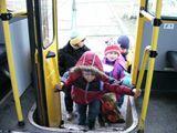 Школьник в автобусе