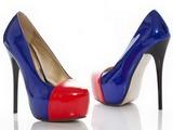 Туфли к синему платью